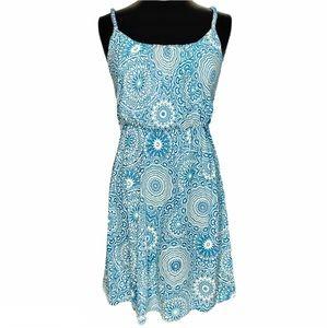 NEW! LOFT Flower Floral Cotton Blend Tank Dress